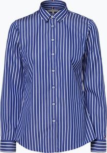 Niebieska bluzka Tommy Hilfiger z kołnierzykiem z długim rękawem