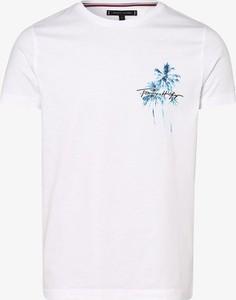 T-shirt Tommy Hilfiger w młodzieżowym stylu z bawełny z nadrukiem