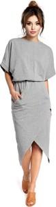 Sukienka BeWear w stylu casual z okrągłym dekoltem