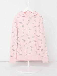 Różowy sweter Review For Teens z bawełny