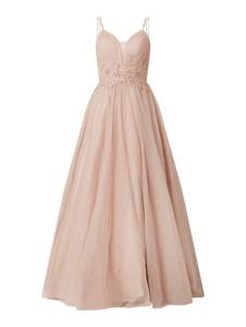 Różowa sukienka Mascara z tiulu rozkloszowana