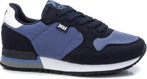 Granatowe buty sportowe dziecięce Xti Kids ze skóry sznurowane