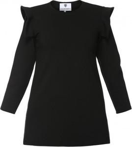 Czarna bluzka Yuliya Babich w stylu casual z długim rękawem