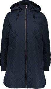 Granatowy płaszcz Tom Tailor Denim w stylu casual