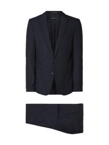 Niebieski garnitur Drykorn z wełny