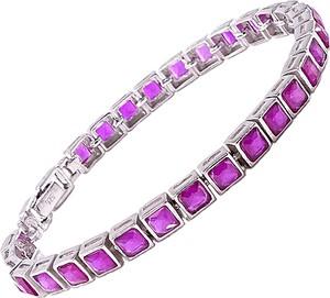 Braccatta rubina srebrna bransoletka awenturyn tenisowa 6,4 ct.
