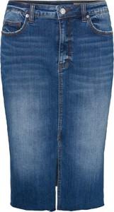 Niebieska spódnica Vero Moda midi z jeansu