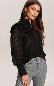 Czarna bluzka Renee z długim rękawem