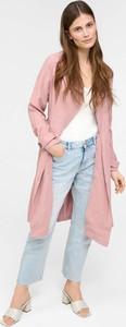 Różowy płaszcz ORSAY z tkaniny