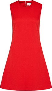 Czerwona sukienka Victoria Beckham bez rękawów