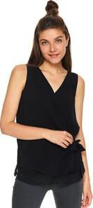 Czarna bluzka Top Secret z dekoltem w kształcie litery v