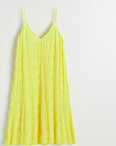 Żółta sukienka Reserved na ramiączkach