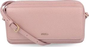 Różowa torebka Furla ze skóry mała
