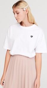 T-shirt Reserved z okrągłym dekoltem z bawełny w stylu casual