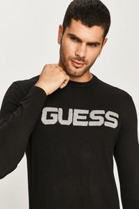 Czarny sweter Guess z wełny w młodzieżowym stylu