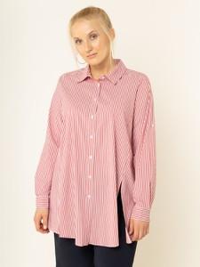 Różowa koszula Persona by Marina Rinaldi z długim rękawem