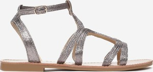 Srebrne sandały Multu