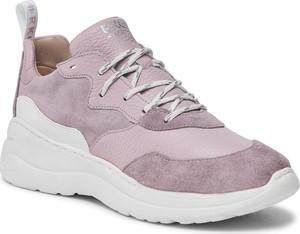 Fioletowe buty sportowe Ryłko sznurowane na platformie