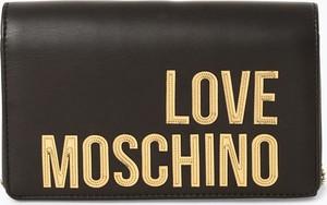 Brązowa torebka Love Moschino na ramię w stylu glamour