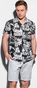 Koszula Ombre z nadrukiem z klasycznym kołnierzykiem