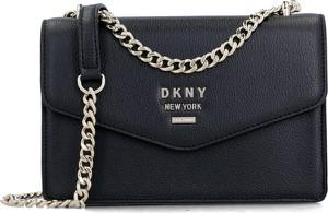 Czarna torebka DKNY mała ze skóry