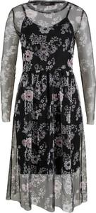 Czarna sukienka bonprix bpc bonprix collection midi w stylu casual