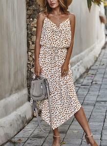 Sukienka Cikelly midi z bawełny na ramiączkach