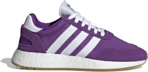 Fioletowe buty sportowe Adidas z zamszu