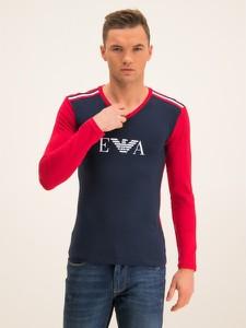 Granatowa koszulka z długim rękawem Emporio Armani z długim rękawem