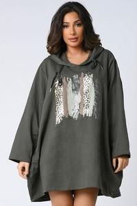 Zielona sukienka Plus Size Company oversize w stylu casual mini