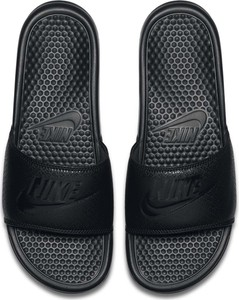 Czarne buty letnie męskie _nike ze skóry