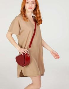 Sukienka Unisono w stylu casual z krótkim rękawem z tkaniny