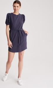 Sukienka Diverse z bawełny mini z krótkim rękawem