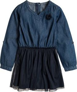 Niebieska sukienka dziewczęca Cool Club z jeansu