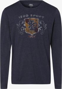 Niebieska koszulka z długim rękawem Izod z długim rękawem