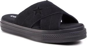 Czarne klapki Converse w stylu casual