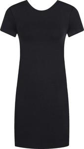 Sukienka Armani Exchange z krótkim rękawem z okrągłym dekoltem mini