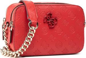 Czerwona torebka Guess na ramię mała