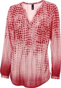 Różowa bluzka Heine z długim rękawem w stylu casual