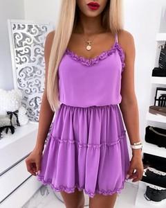 Sukienka Kendallme mini na ramiączkach rozkloszowana