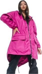 Różowa kurtka REST FACTORY krótka w stylu casual