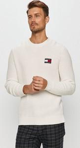 Sweter Tommy Jeans z bawełny z okrągłym dekoltem