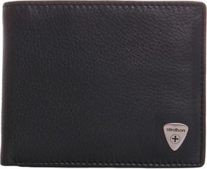 8c36c2cfc47e7 Czarny portfel męski Strellson na karty kredytowe ze skóry