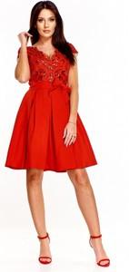 224a5386f4 Czerwona sukienka Bosca Fashion midi z dekoltem w kształcie litery v