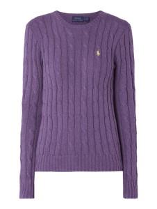 Fioletowy sweter POLO RALPH LAUREN z bawełny