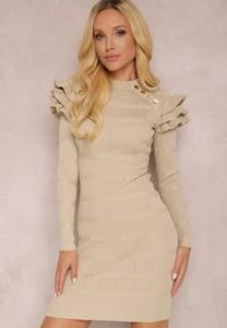 Sukienka Renee mini w stylu casual z długim rękawem