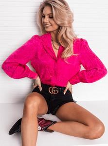Różowa koszula SELFIEROOM z długim rękawem w stylu casual