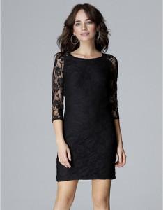 Czarna sukienka LENITIF z długim rękawem