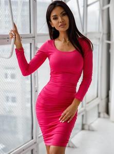 Czerwona sukienka SELFIEROOM mini dopasowana
