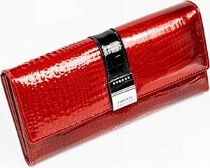 Czerwony portfel Lorenti ze skóry
